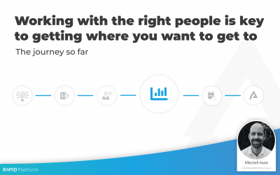 Learning: Working with the right people is key to getting where you want to get to